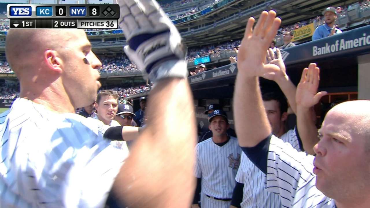 Bates de Yankees se destapan y apabullan a K.C.