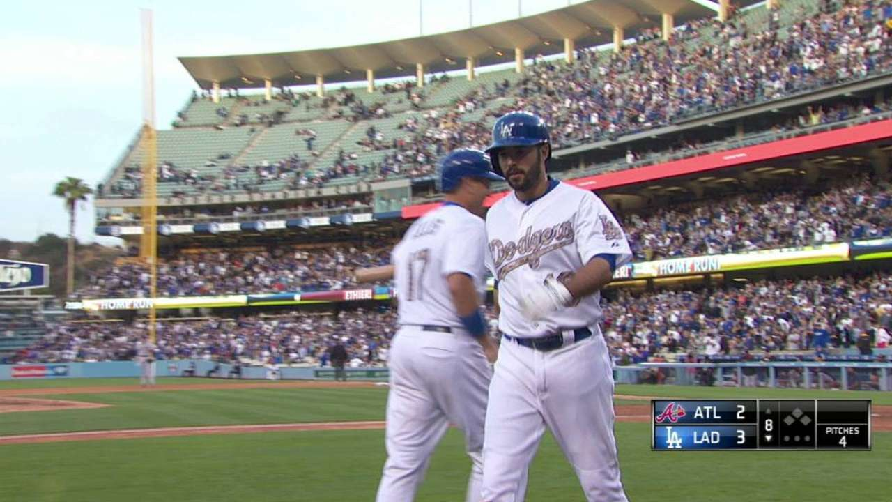 Homer Happy: Dodgers Hit 3 in 8th to Beat Braves 6-3