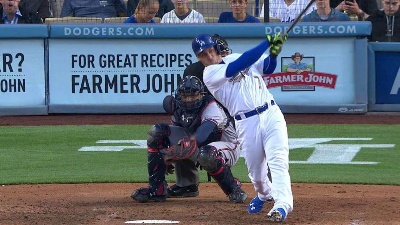 Con 3 HR en la octava Dodgers hunden a Bravos