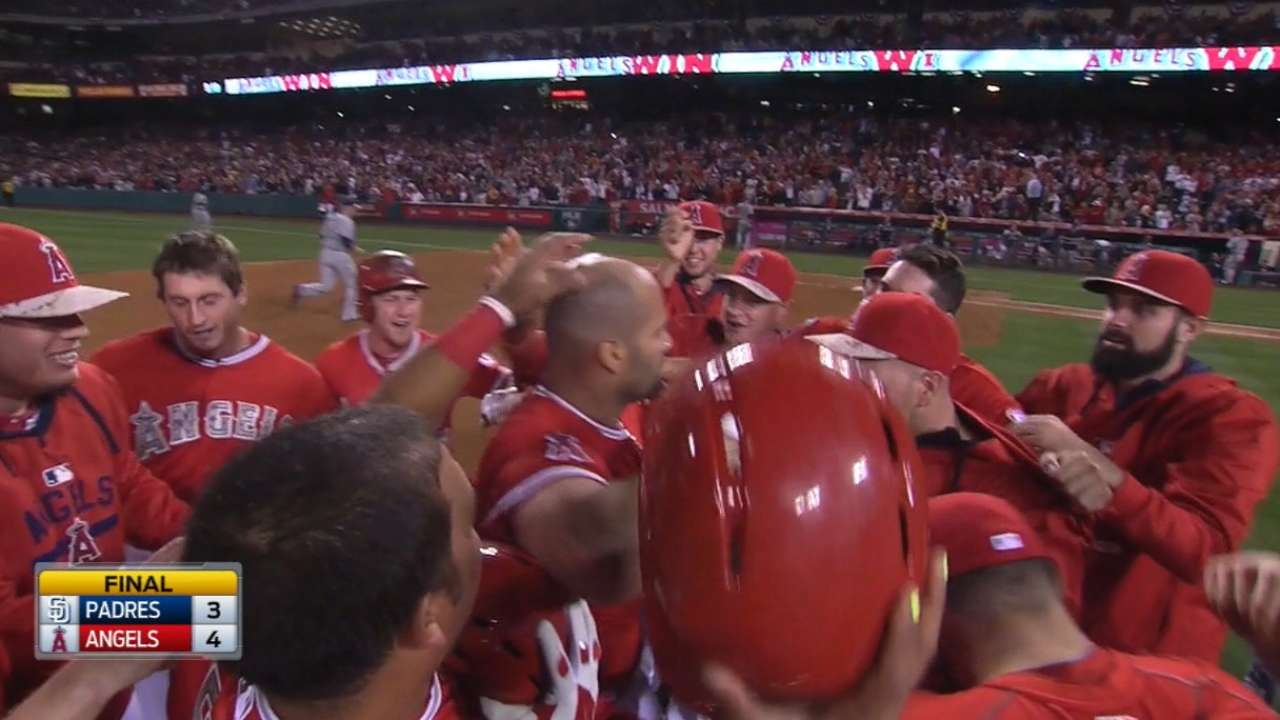 Albert Pujols delivers walk-off win after Angels give Padres to…
