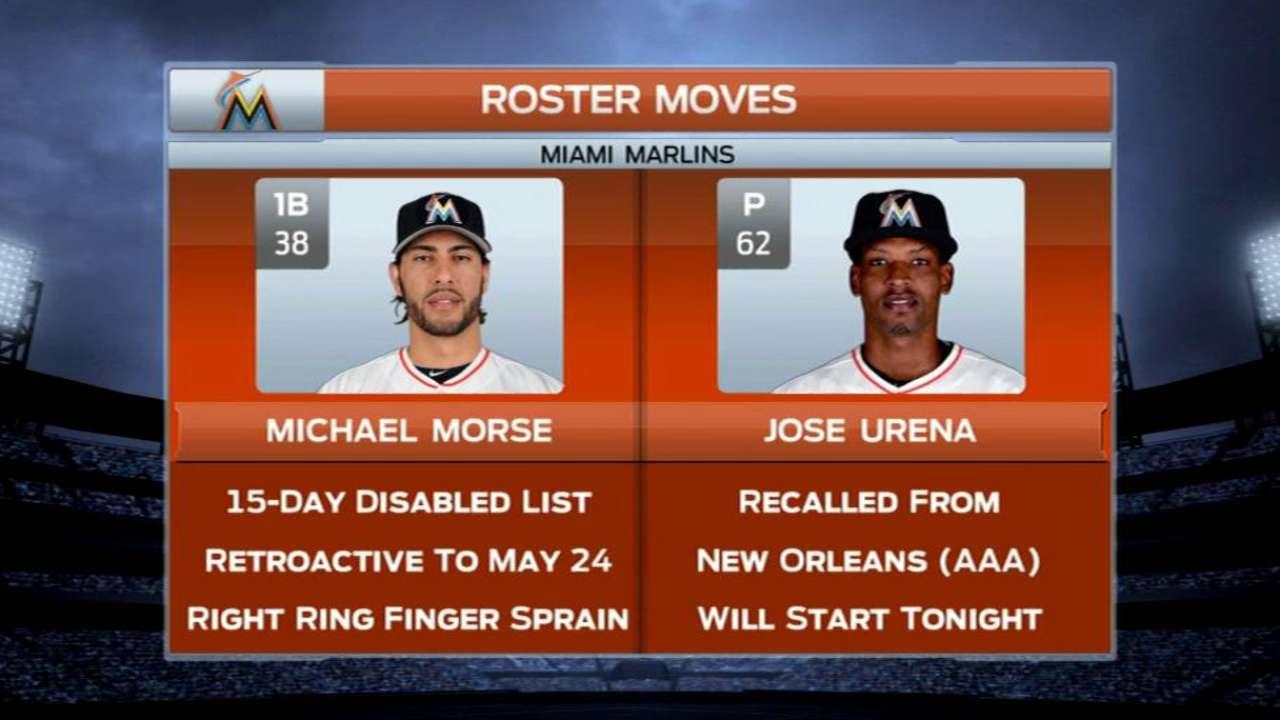 Morse on DL; sim game on tap for Fernandez