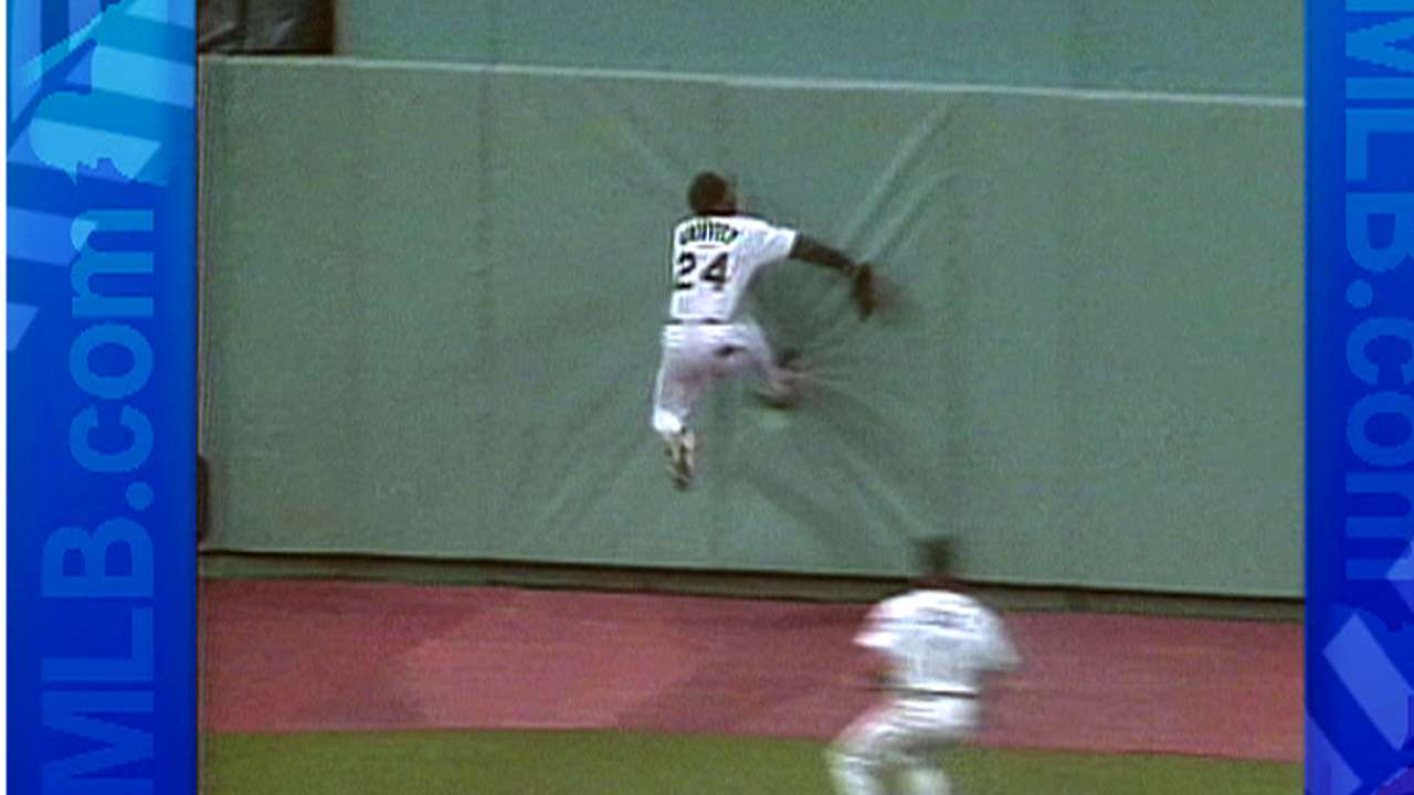 Griffey slams into the wall