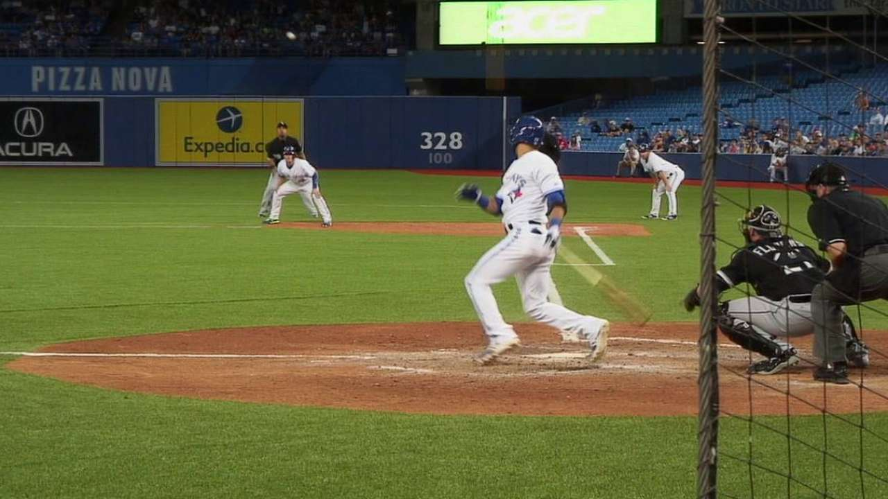 Bautista's second two-run double