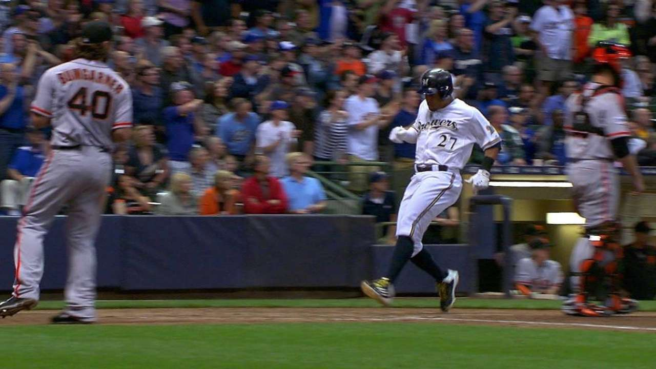 Brewers can't overcome Giants homers