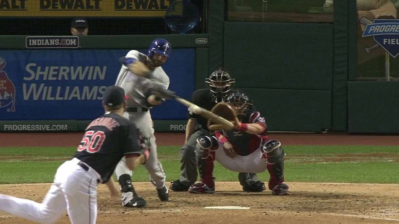 Rangers outmuscle Tribe to win 7th straight