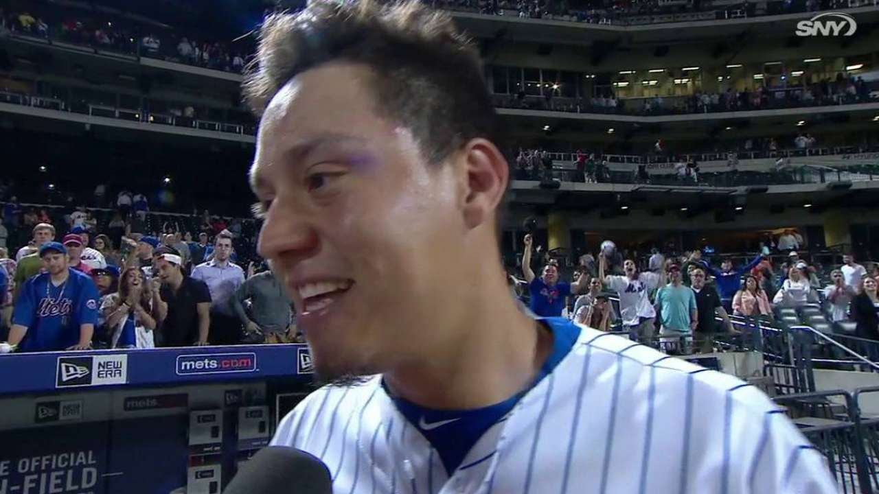 Flores on walk-off single