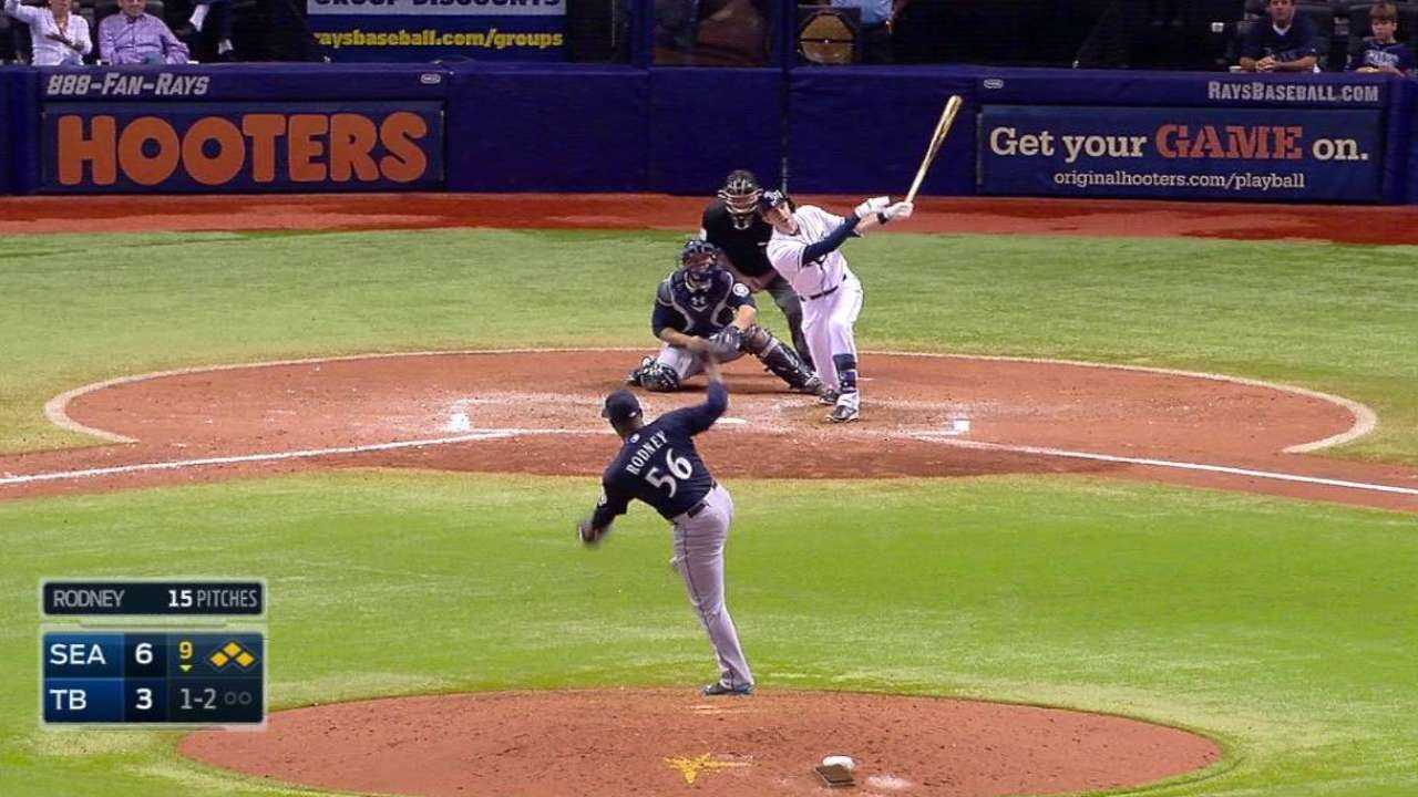 Rays rally to tie but fall in extra innings