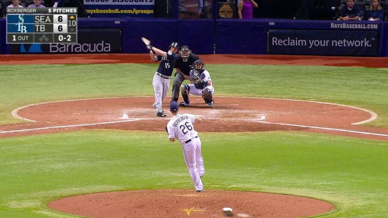 Mariners take wild one from Rays in extras