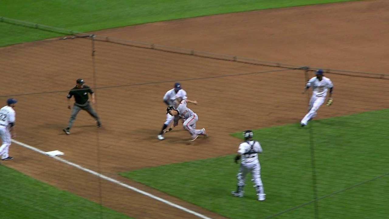 Goforth gets pickoff in Major League debut