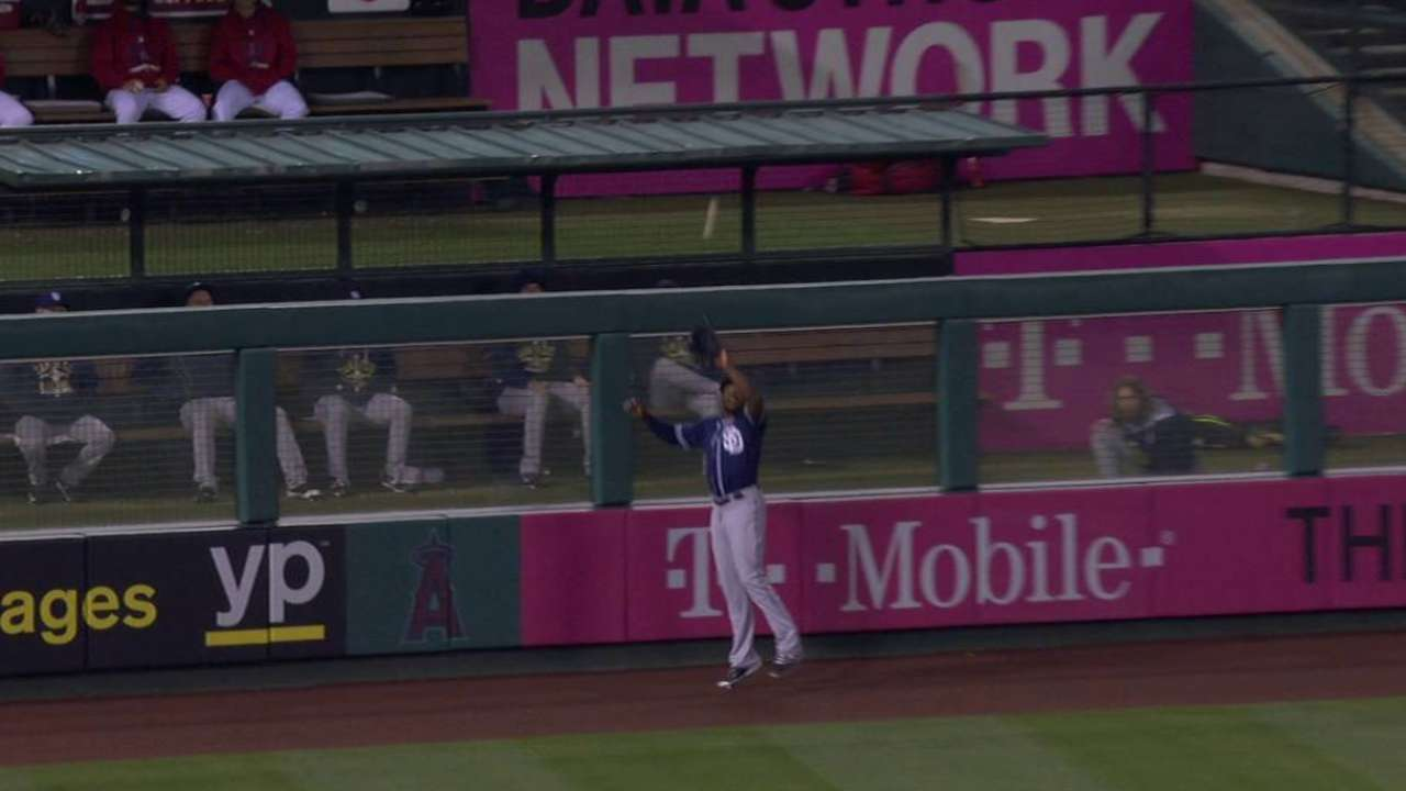 Upton's catch at the wall