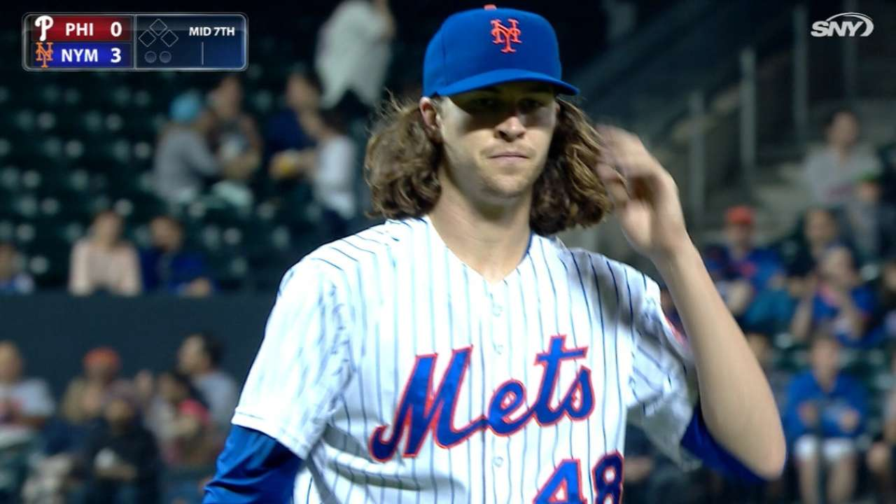 deGrom's nine strikeouts