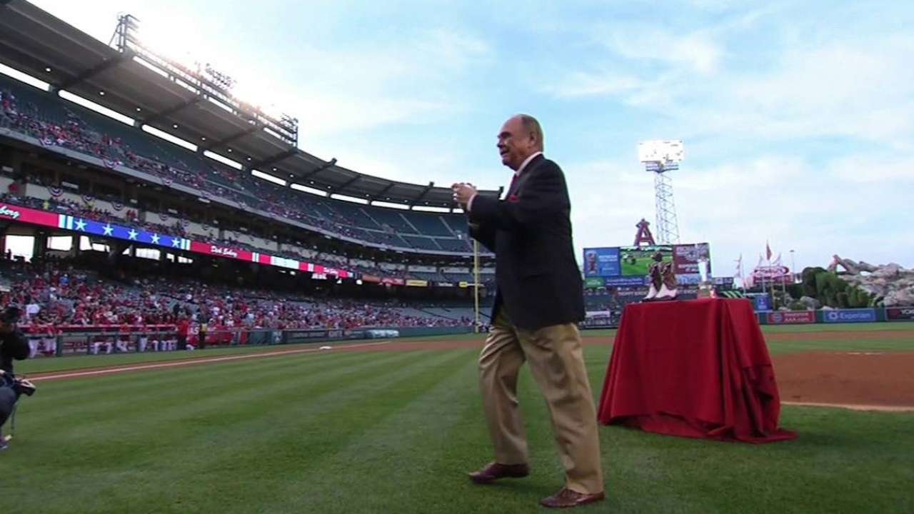 Enberg's first pitch