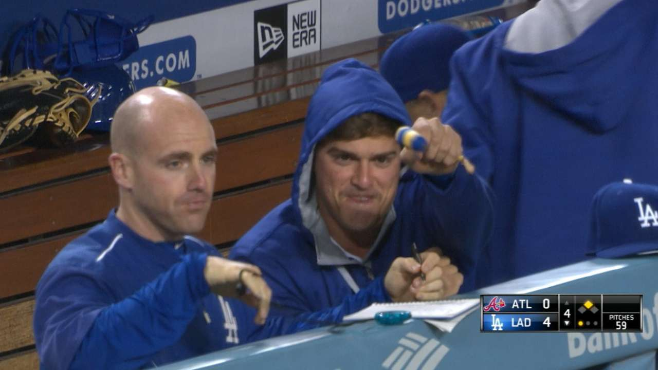 Dodgers' six-run 4th inning