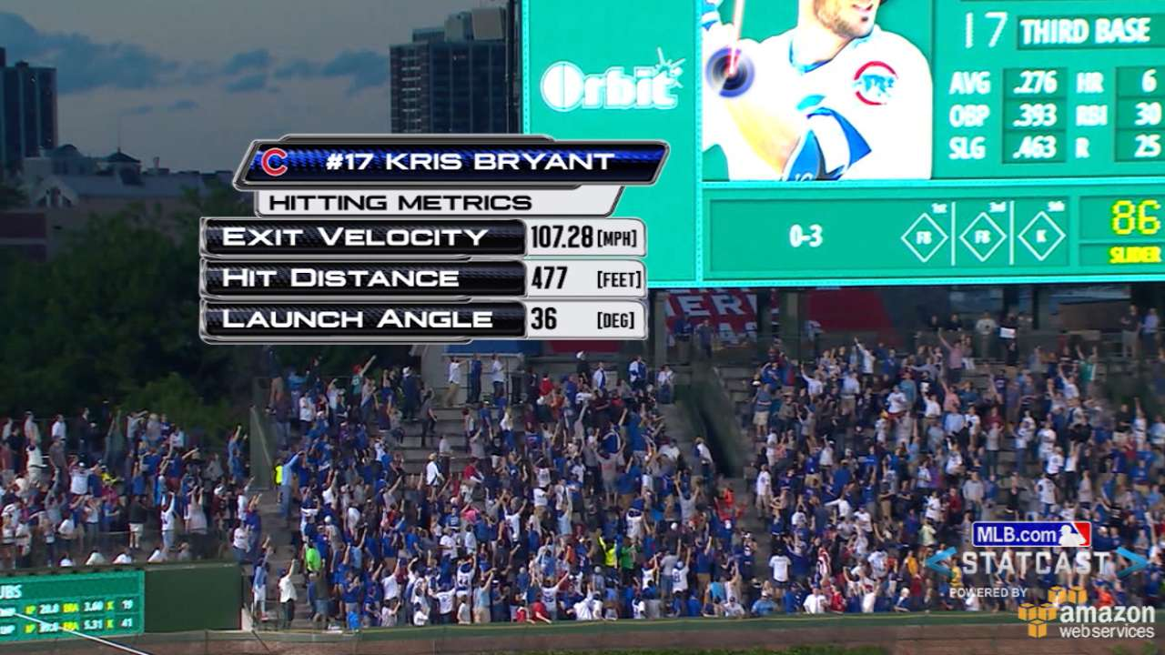 Bryant wows Wrigley with mammoth home run