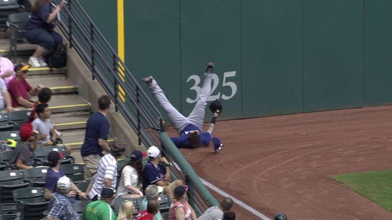 Hamilton's leaping grab