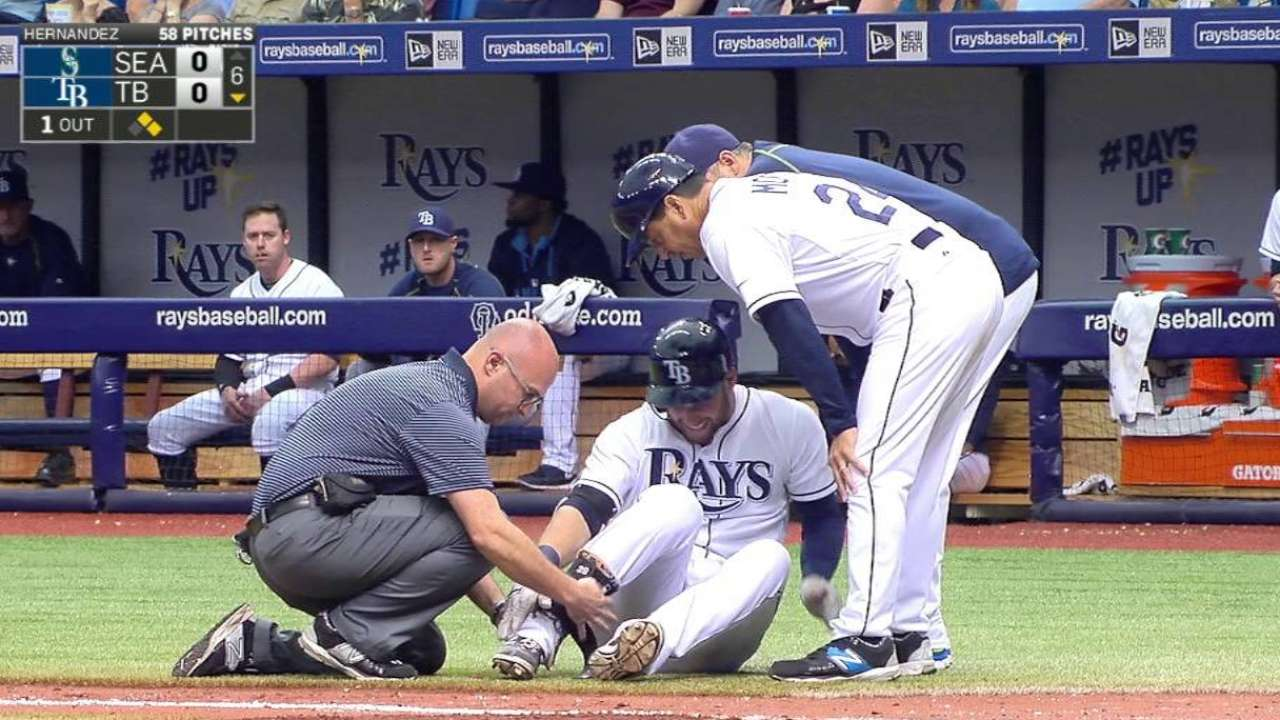 X-rays negative on Kiermaier's right ankle