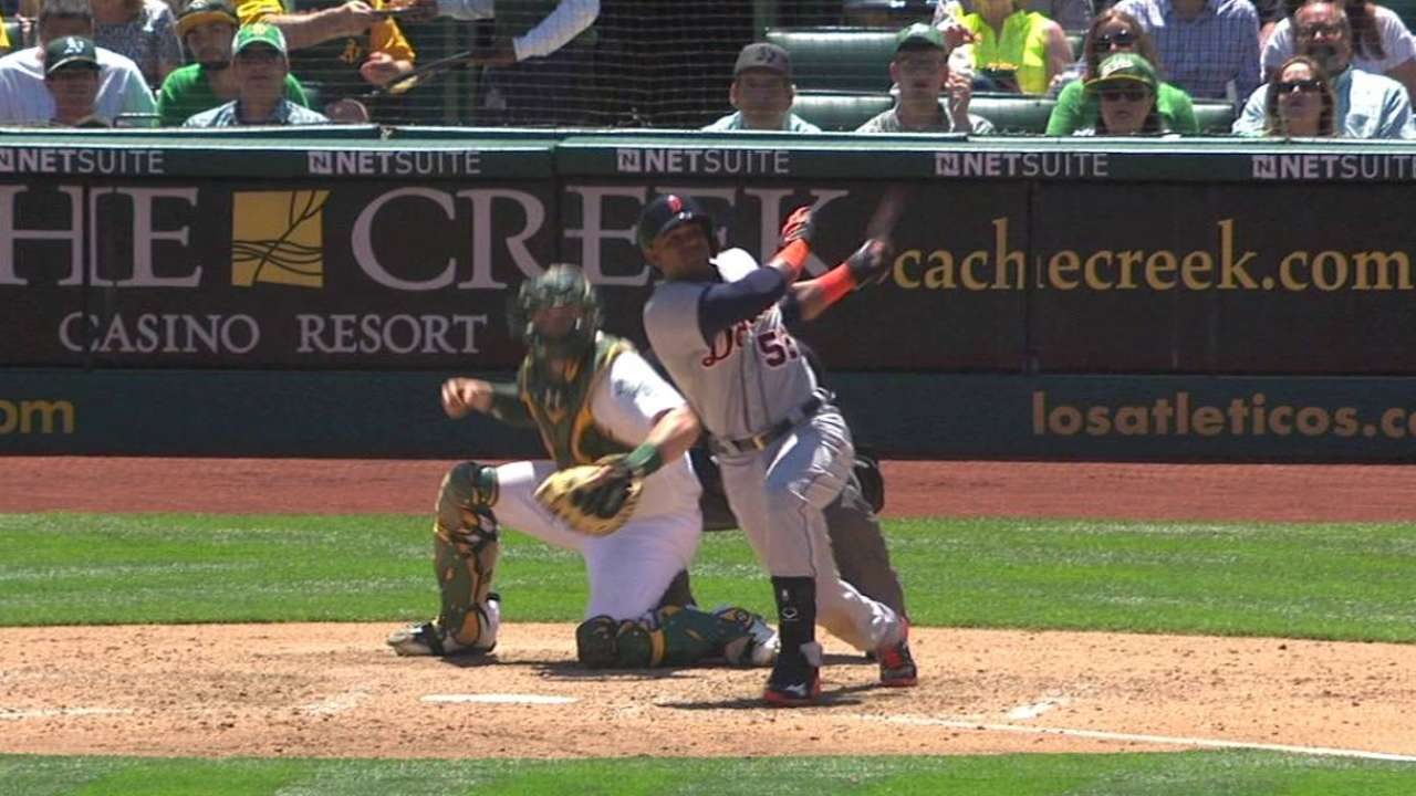 Cespedes finishes homecoming on high note