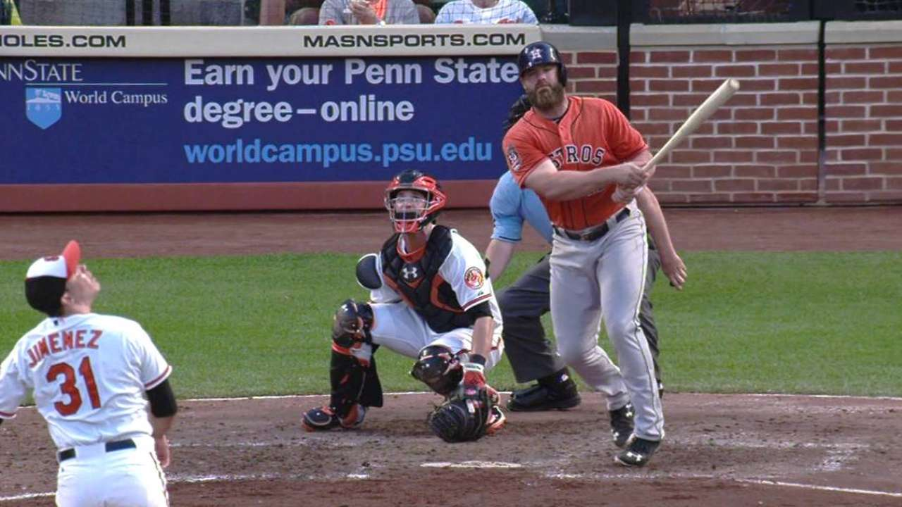 Going, going Gattis: Big home run continues turnaround