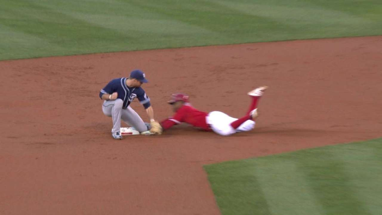 Aybar gets steal after review