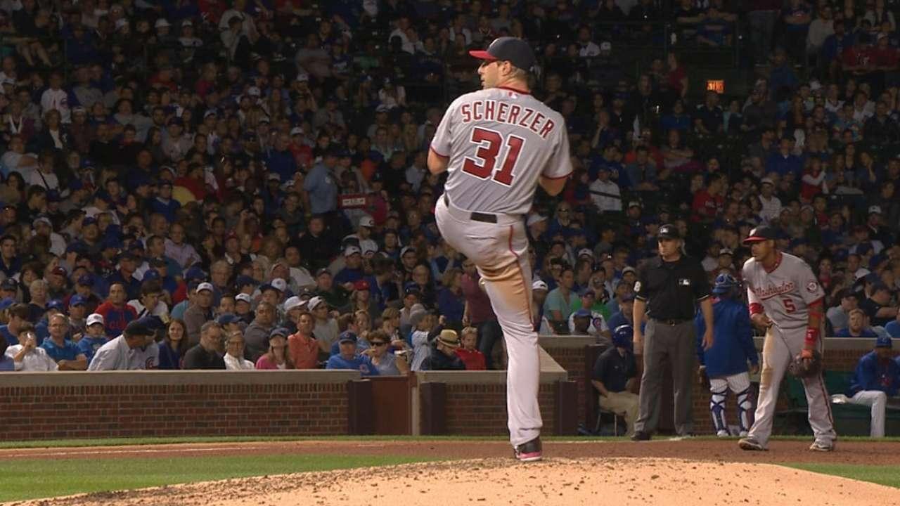 Nats take set after Scherzer out-K's Lester