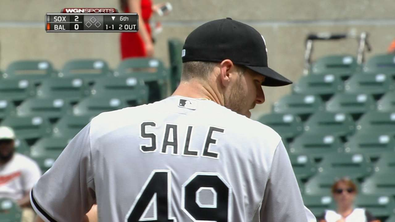 Dominant Sale sets up win as Sox hold off O's