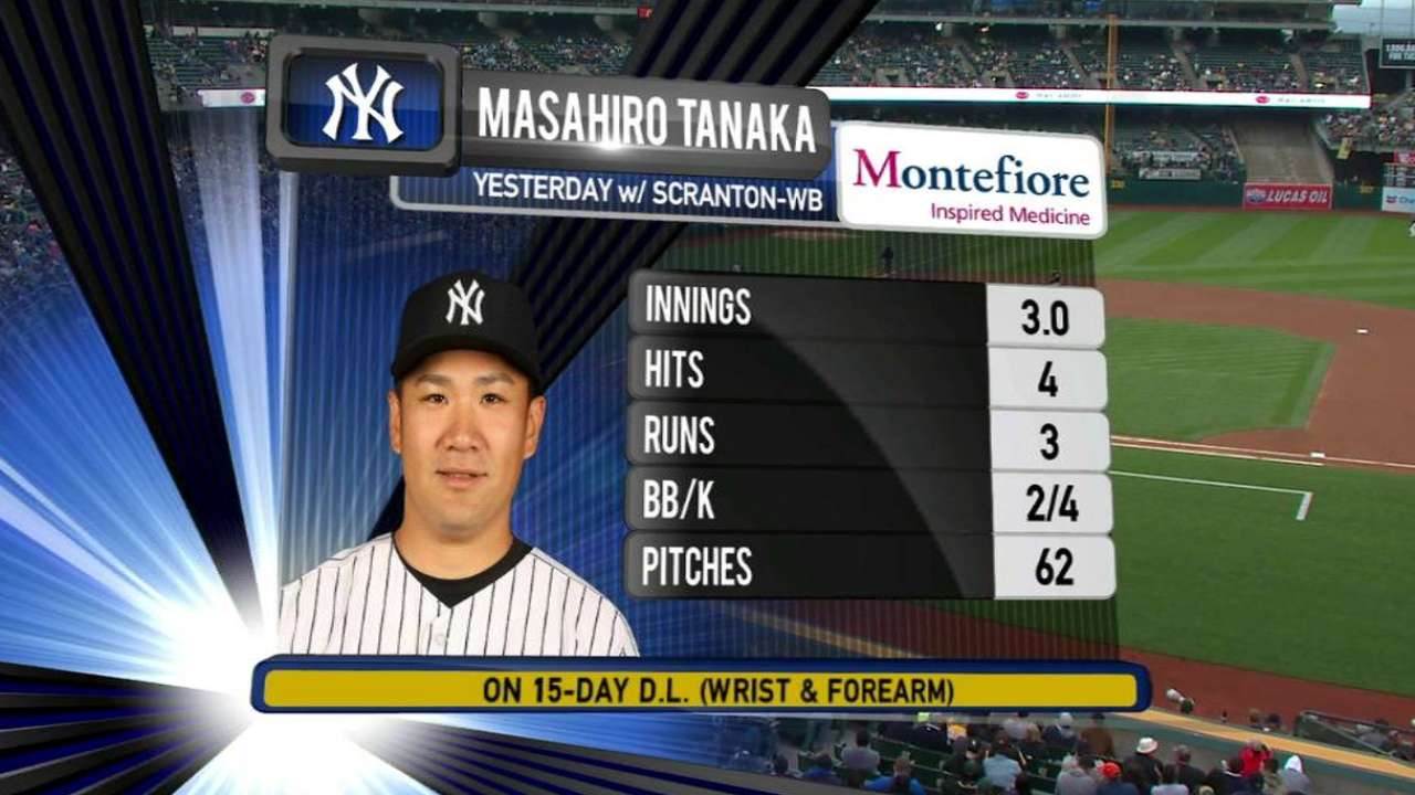 Tanaka could start for Yankees next week