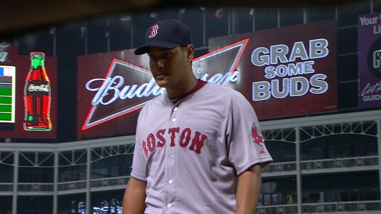 Rodriguez's debut one of best in Red Sox history