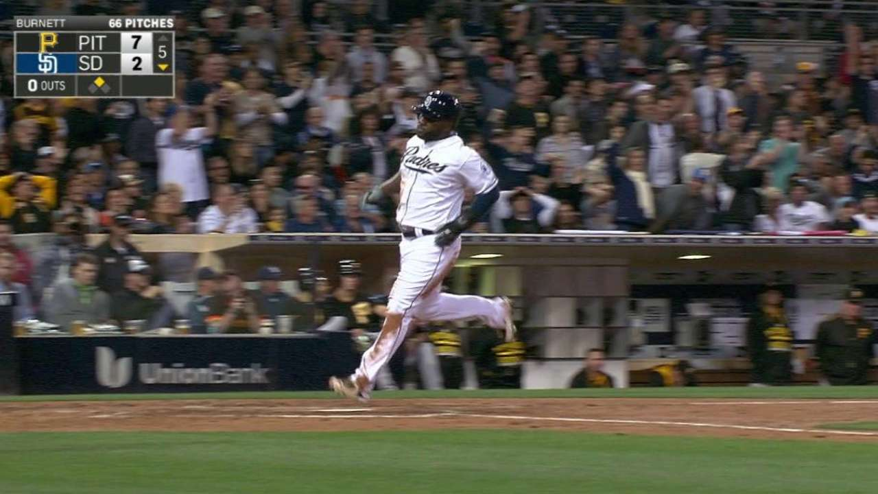 Padres score on Pirates' errors