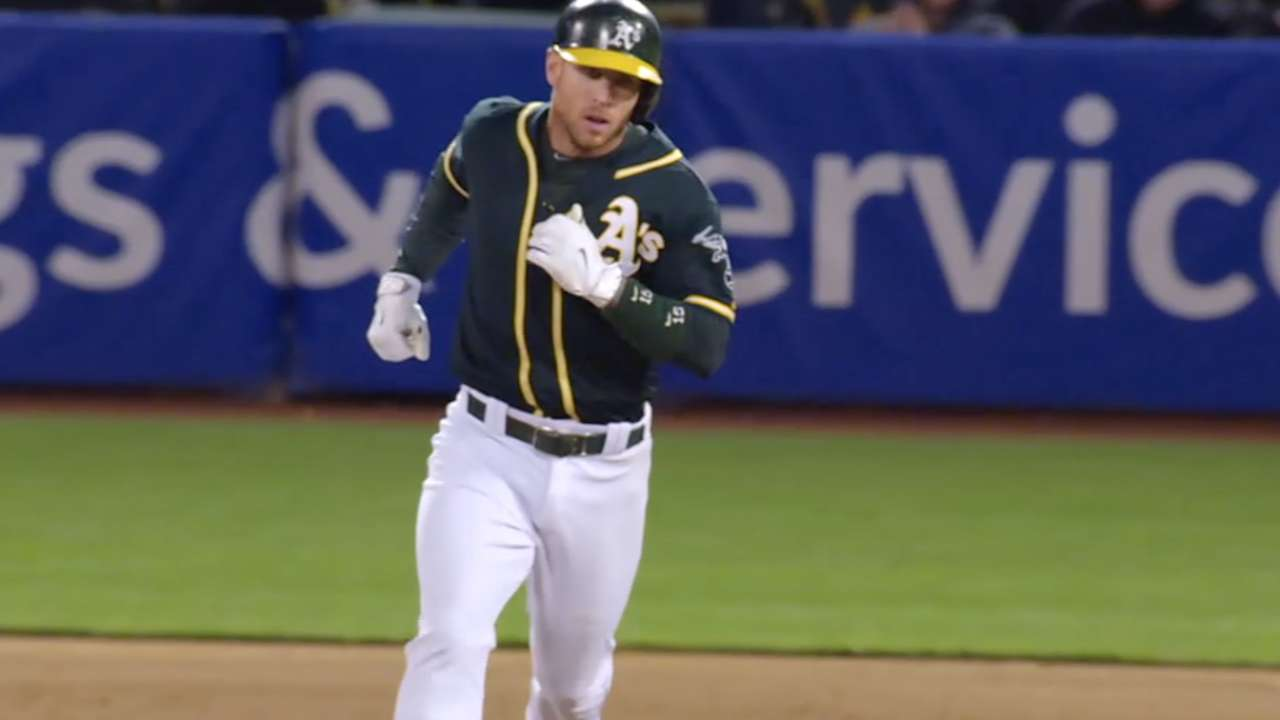 Lawrie hits big HR as A's rally past Yanks