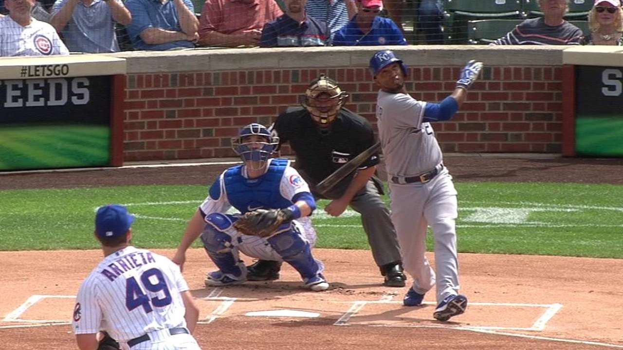 Escobar homers on first pitch