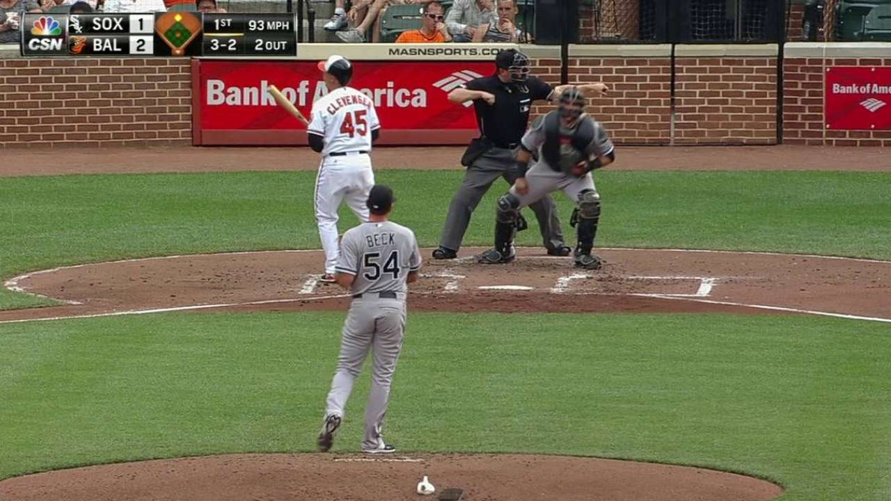 Beck's first career strikeout