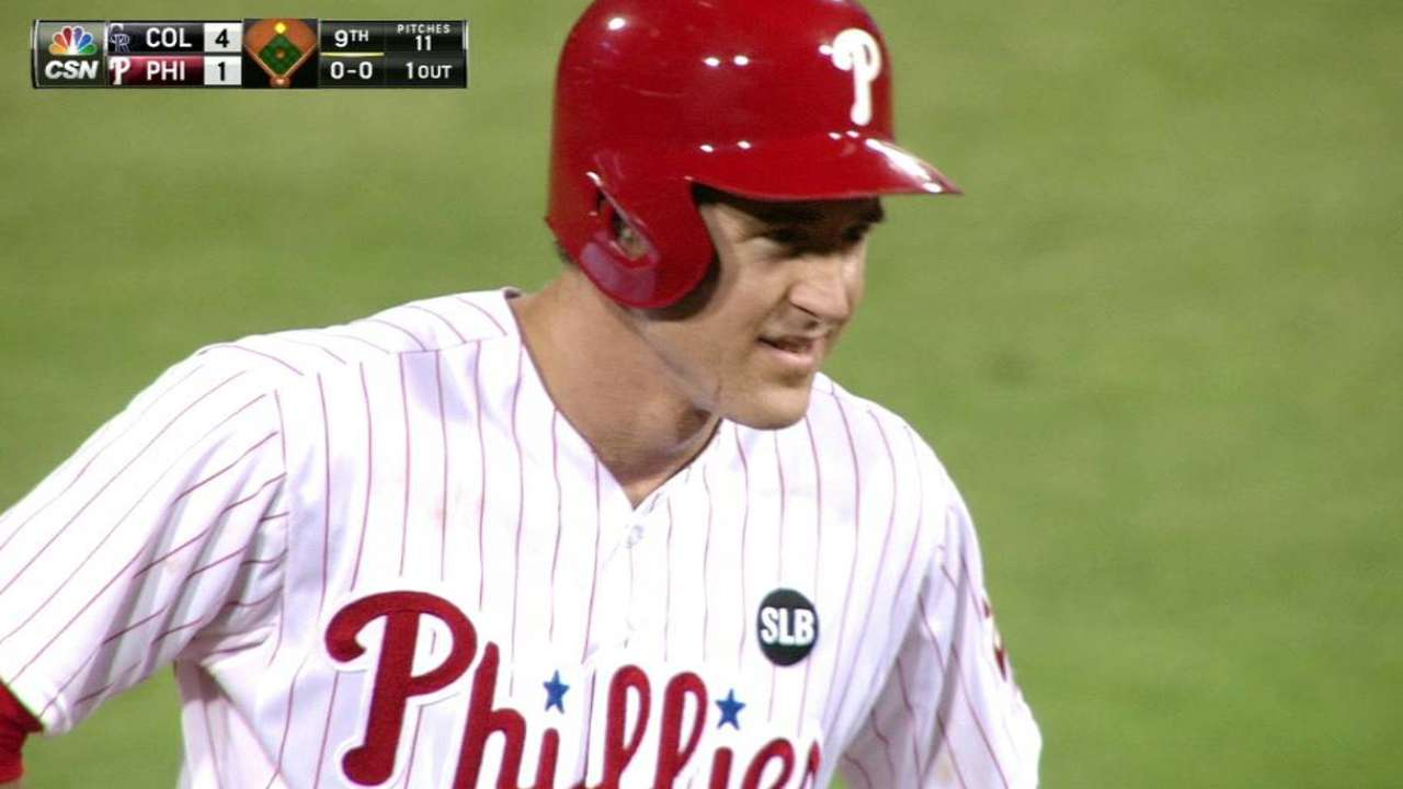 Utley plates Revere on misplay