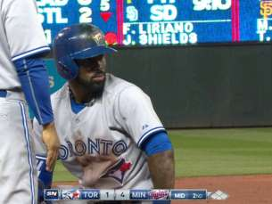TOR@MIN: Reyes doubles in the Blue Jays' first run