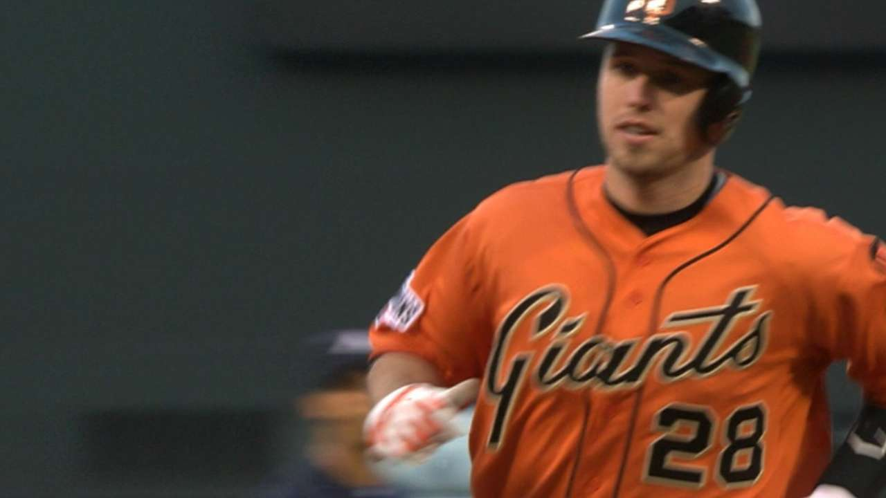 Posey's bat, Hudson's arm topple Braves