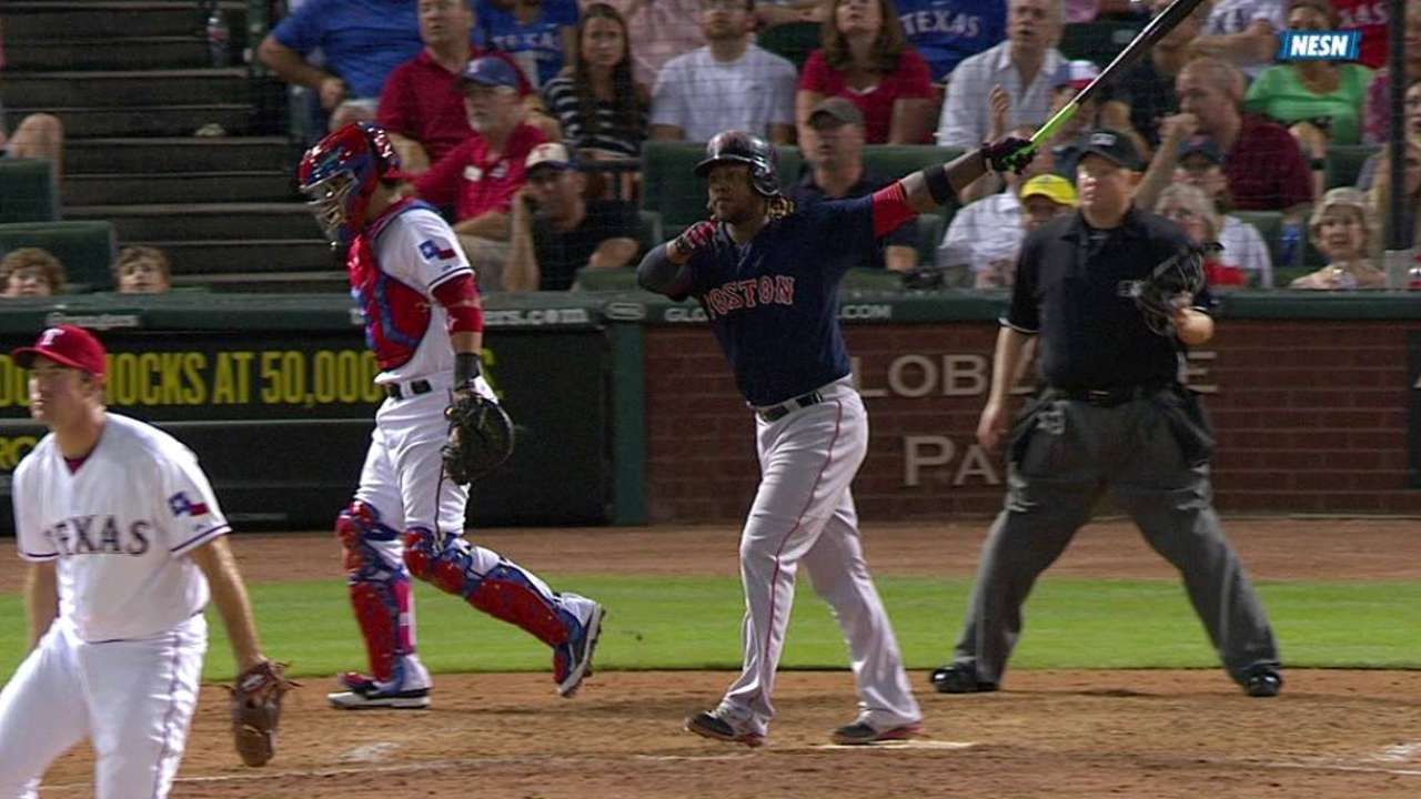 Rangers pull away late after Sox cut it close