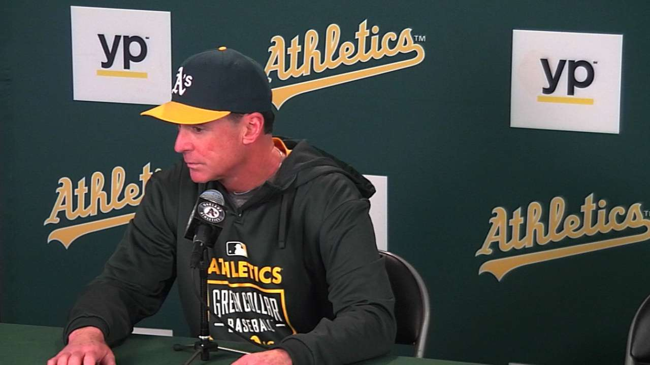 Melvin on A's 6-2 win
