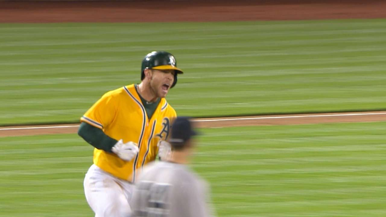 Backed by A's bats, Gray stifles Yanks