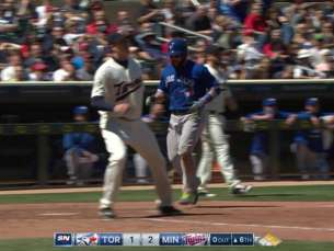 TOR@MIN: Martin scores tying run on Herrmann's error