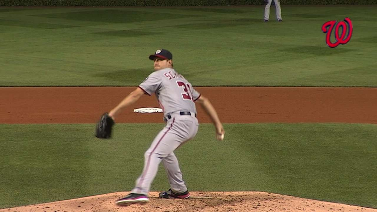 Scherzer on pitching in Majors