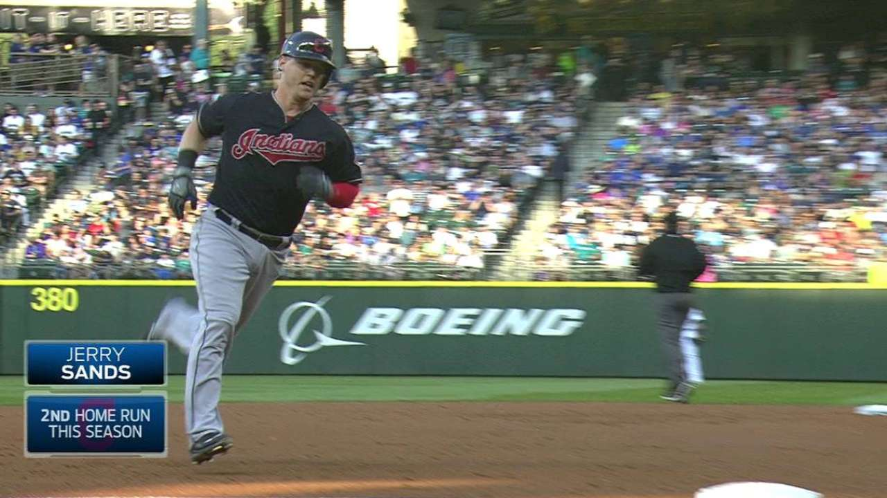 Sands, Marcum deliver as Tribe holds off Mariners