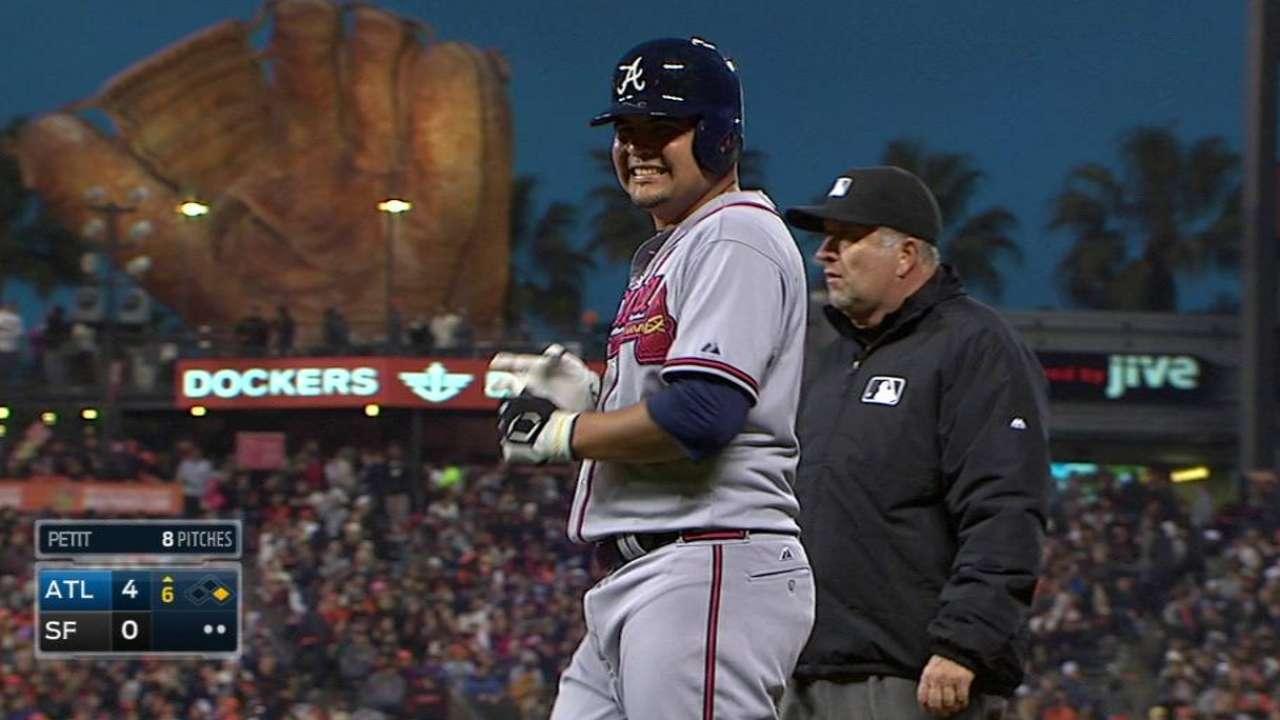 W. Perez's first big league hit