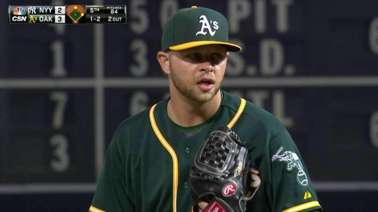 Tough night all around for A's