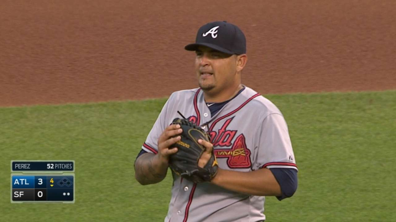 'Impressive' Perez collects first big league win