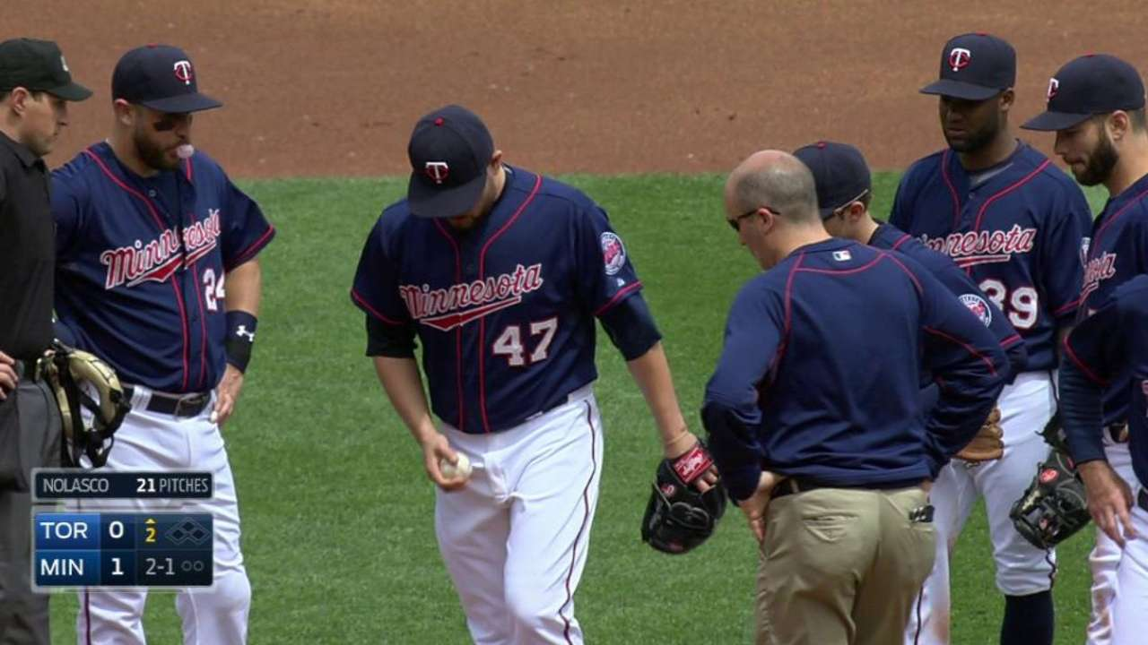 Nolasco visited by trainer