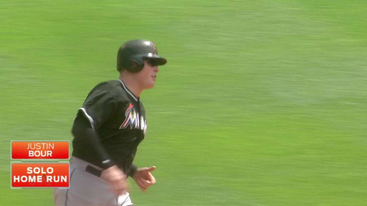 Bour's game-tying solo homer