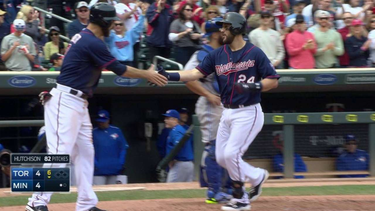Plouffe's game-tying home run