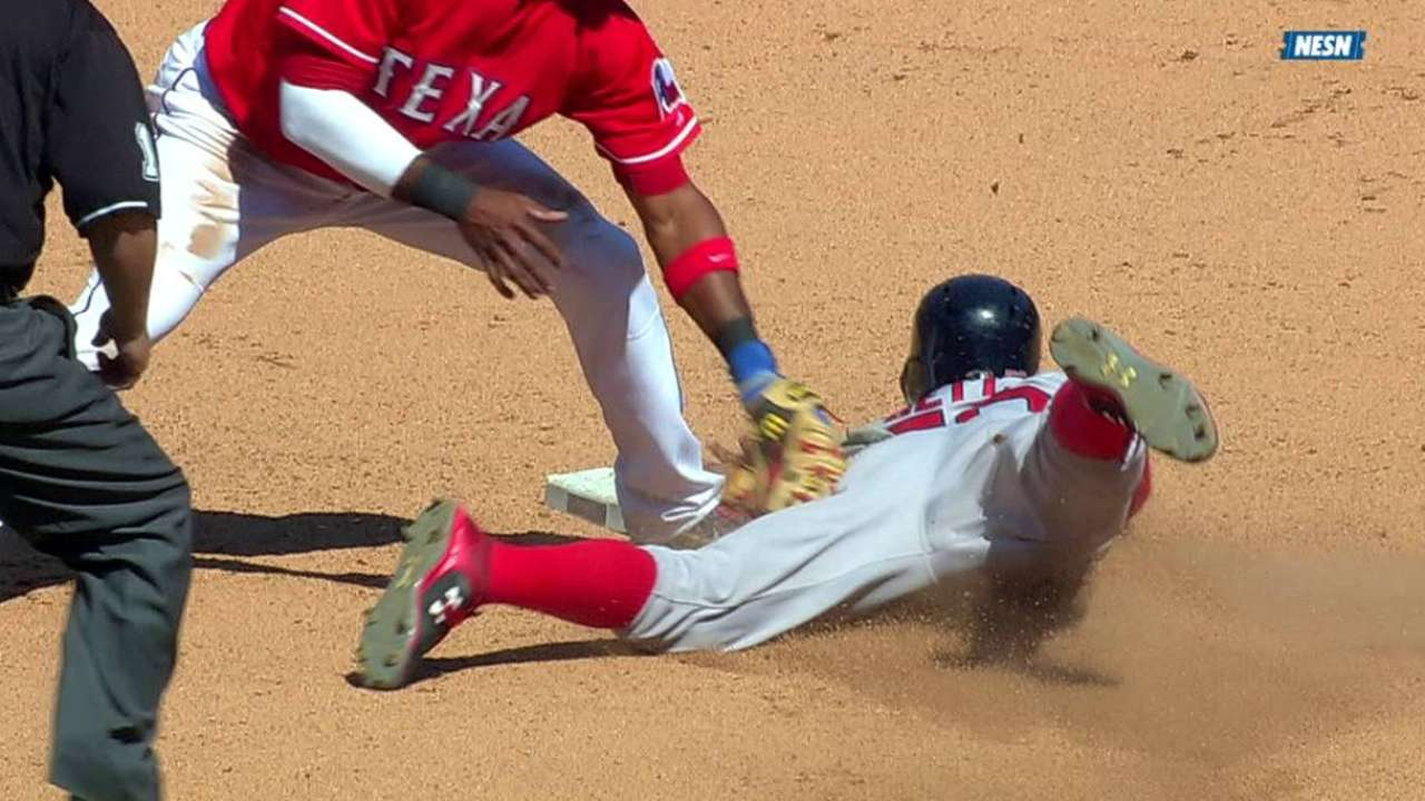 Betts gets steal after review