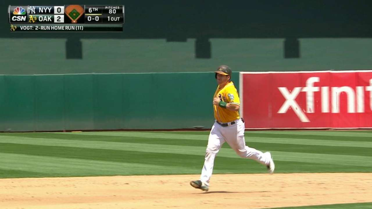 Vogt's two-run homer