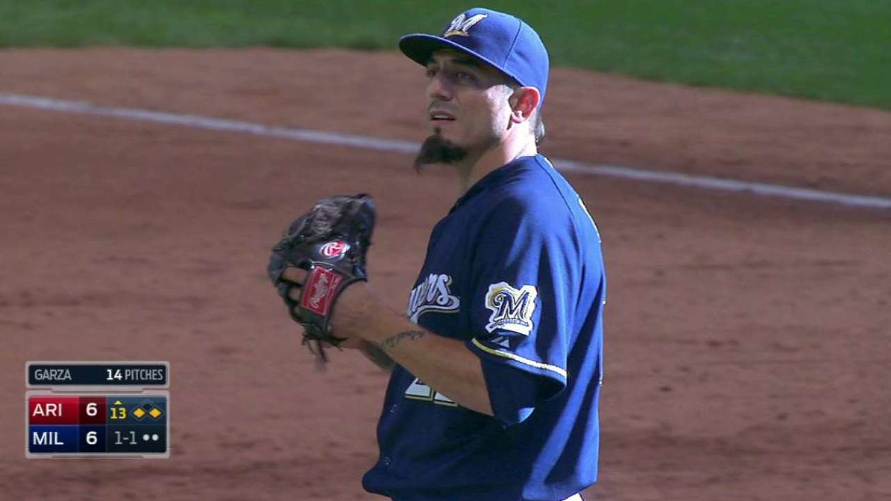 Garza earns win a day before scheduled start