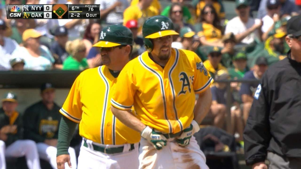 Burns setting the table atop A's lineup